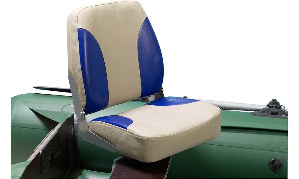 Кресло раскладное мягкое в лодку ПВХ с поворотным механизмом
