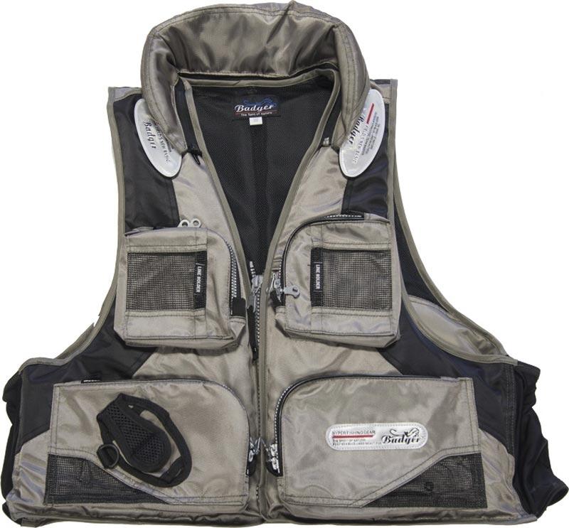 Спасжилет рыболовный Aqua Sport Grey