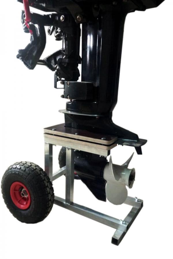 Тележка для лодочного мотора 8-15 л.с. подпружиненная
